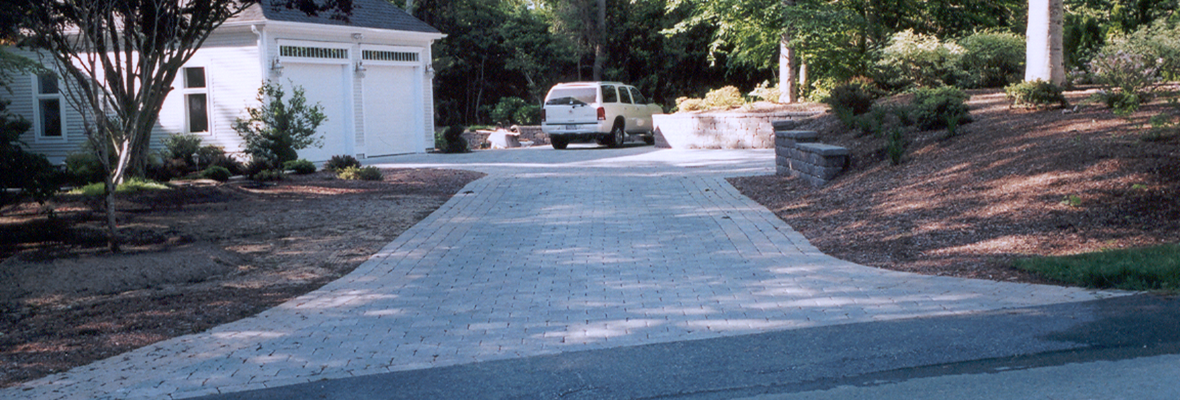 Rock Driveways add a unique texture to the Landscape of your yard!